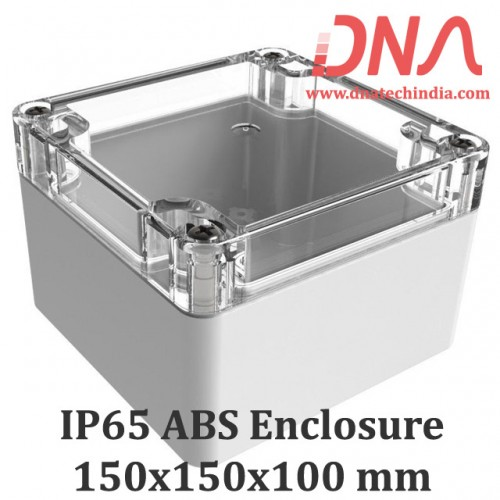 ABS 150x150x100 mm IP65 Enclosure with Transparent Top