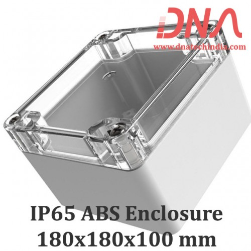 ABS 180x180x100 mm IP65 Enclosure with Transparent Top