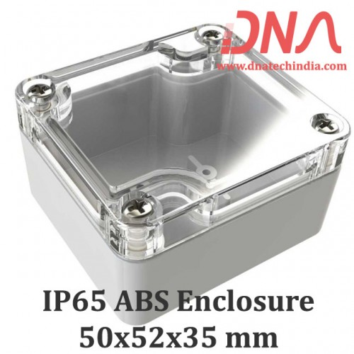 ABS 50x52x35 mm IP65 Enclosure with Transparent Top