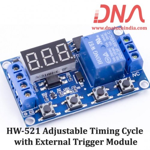 HW-521 Adjustable Timing Cycle with External Trigger Power Relay Module