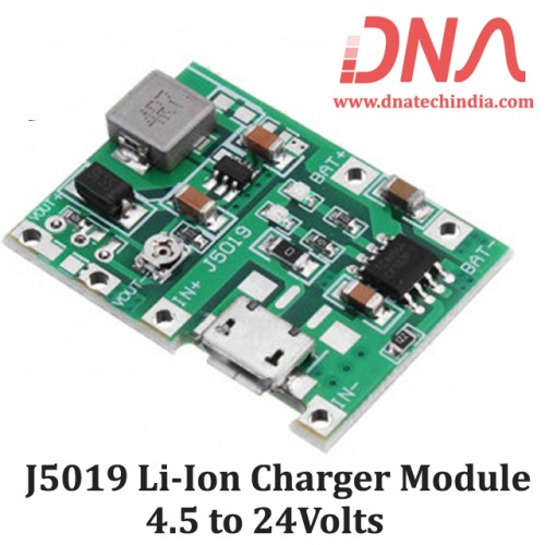 J5019 Li-Ion Charger with 4.5 to 24 Volts Boost Module