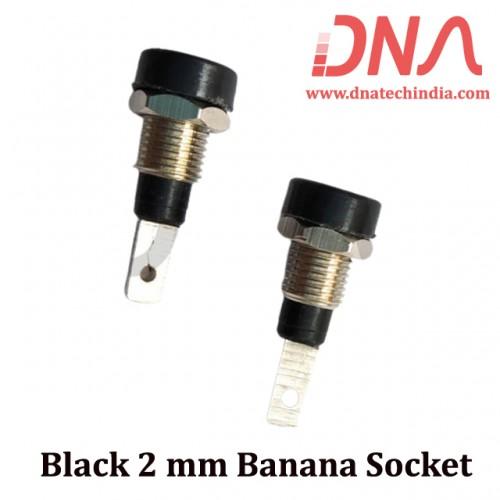 Black 2 mm Banana socket