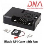 Black Raspberry Pi Case with Fan