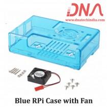 Blue Raspberry Pi Case with Fan