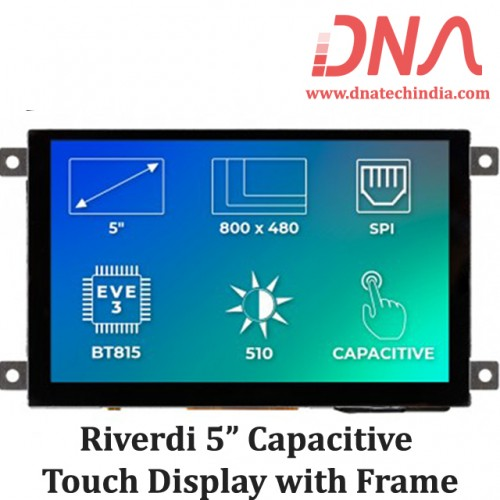 "Riverdi 5"" Capacitive Touch Display with Frame"