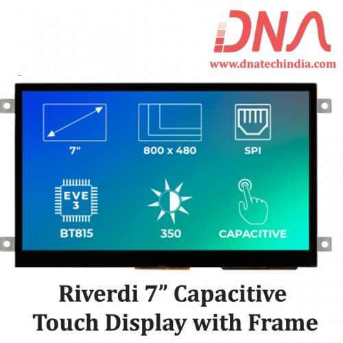 "Riverdi 7"" Capacitive Touch Display with Frame"