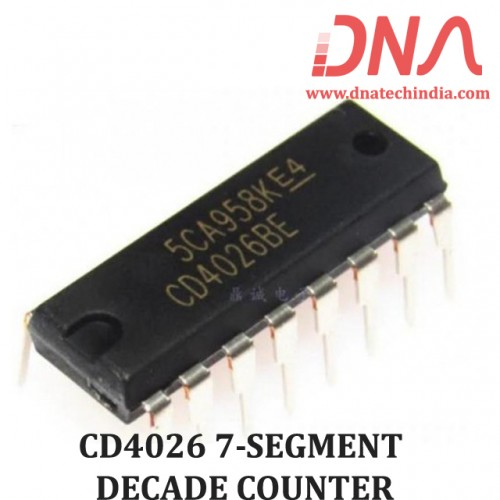 CD4026 7-SEGMENT DECADE COUNTER