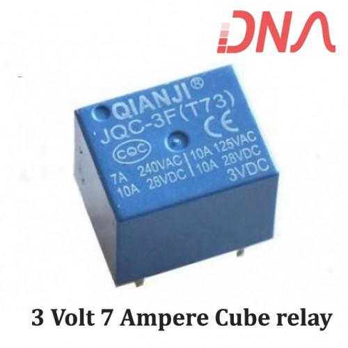 3 Volt 7 Ampere Cube relay