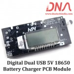 Digital Dual USB 5V 18650 Battery Charger Module With Display
