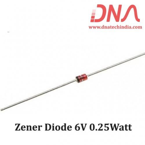 Zener Diode 6V 0.25Watt