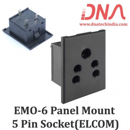 EMO6 5 Pin Panel Socket (ELCOM)