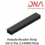 2x20 2.54 mm Berg Strip - Straight Female Header Strip