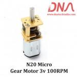 N20 micro gear motor 3v 100RPM
