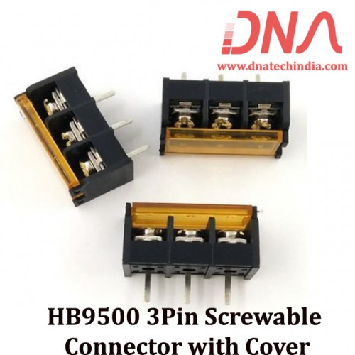 HB9500 3Pin Screwable Connector with Cover