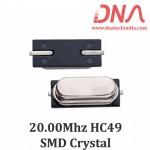 HC49 Surface Mount 20.00 Mhz Crystal Oscillator