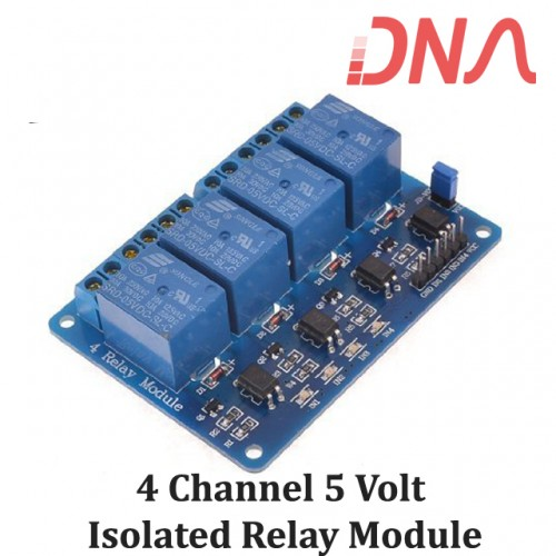 4 Channel 5 Volt Isolated Relay Module