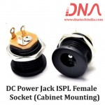 DC Power Jack ISPL Female Socket (Cabinet Mounting)