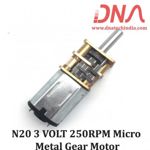 N20 3 VOLT 250RPM Micro Metal Gear Motor