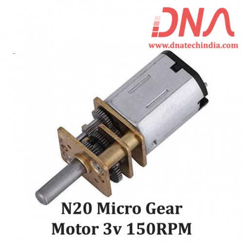 N20 micro gear motor 3v 150RPM