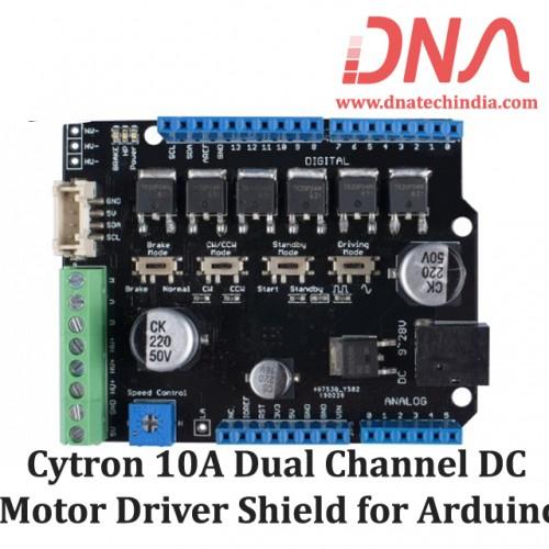 Cytron 10A Dual Channel DC Motor Driver Shield for Arduino