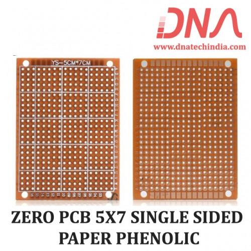 ZERO PCB 5X7 SINGLE SIDED PAPER PHENOLIC