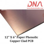 "Paper Phenolic 12""x 6"" Copper Clad"