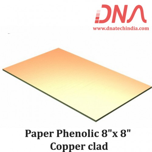 "Paper Phenolic 8""x 8"" Copper Clad"