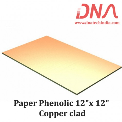 "Paper Phenolic 12""x 12"" Copper clad"