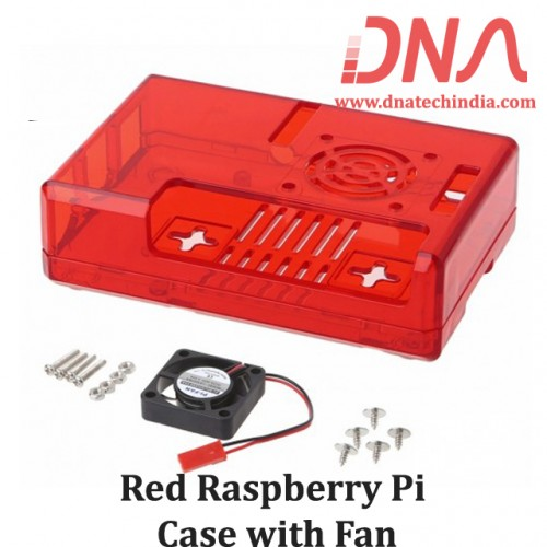 Red Raspberry Pi Case with Fan