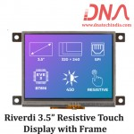 """Riverdi 3.5"""" Resistive Touch Display with Frame"""