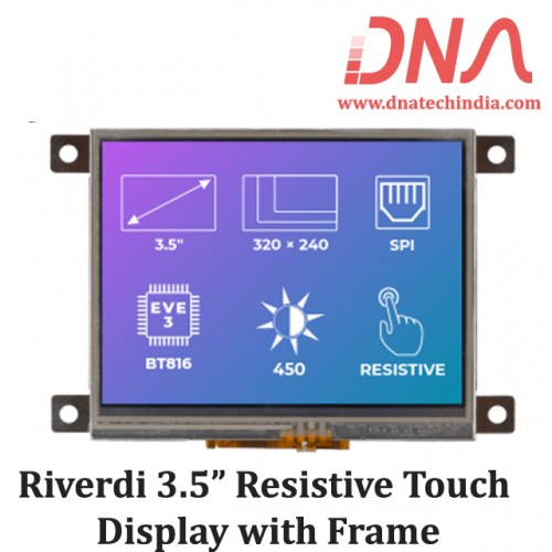 "Riverdi 3.5"" Resistive Touch Display with Frame"