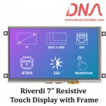 """Riverdi 7"""" Resistive Touch Display with Frame"""