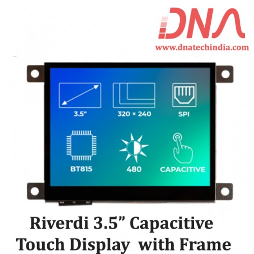 """Riverdi 3.5"""" Capacitive Touch Display with Frame"""