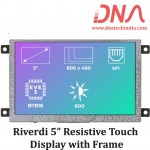 """Riverdi 5"""" Resistive Touch Display with Frame"""