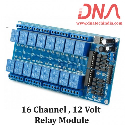 16 Channel 12 Volt Isolated Relay Module