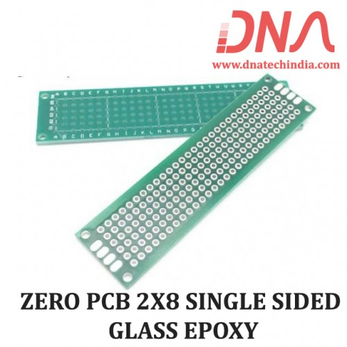 ZERO PCB 2X8 SINGLE SIDED GLASS EPOXY