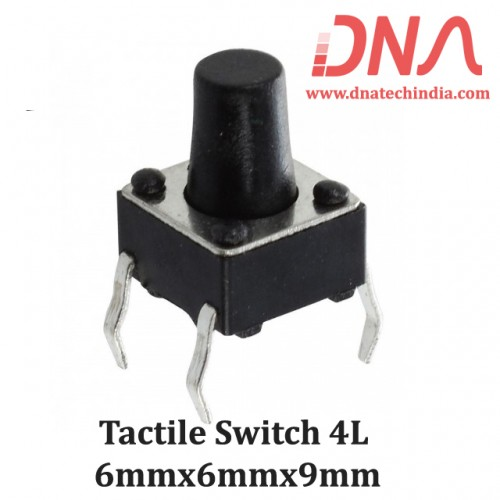 Tactile Switch 4L 6mmx6mmx9mm
