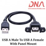 USB A Male To USB A Female With Panel Mount