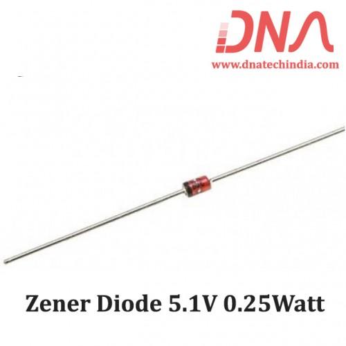 Zener Diode 5.1V 0.25Watt