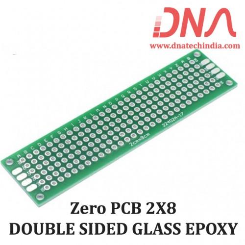 ZERO PCB 2X8  DOUBLE SIDED GLASS EPOXY