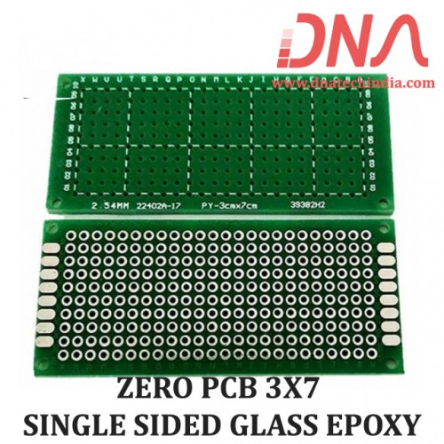 ZERO PCB 3X7 SINGLE SIDED GLASS EPOXY