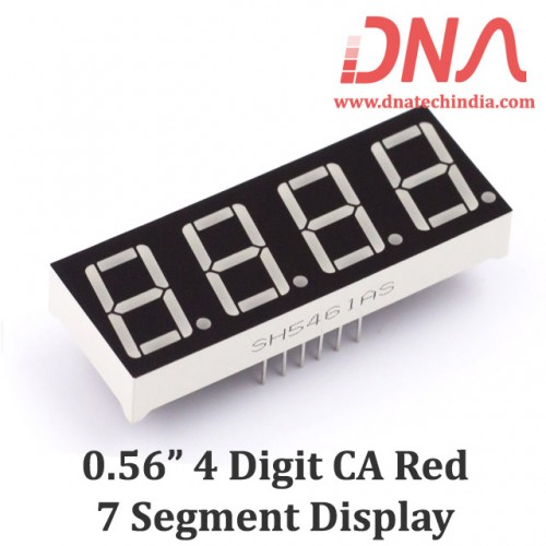 "0.56"" Four Digit RED CA 7 Segment Display"