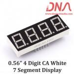"0.56"" Four Digit White CA 7 Segment Display"