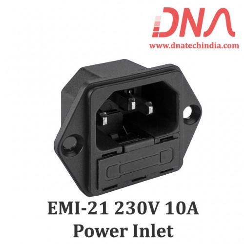 EMI-21 Power Inlet With Fuse Holder (Elcom)