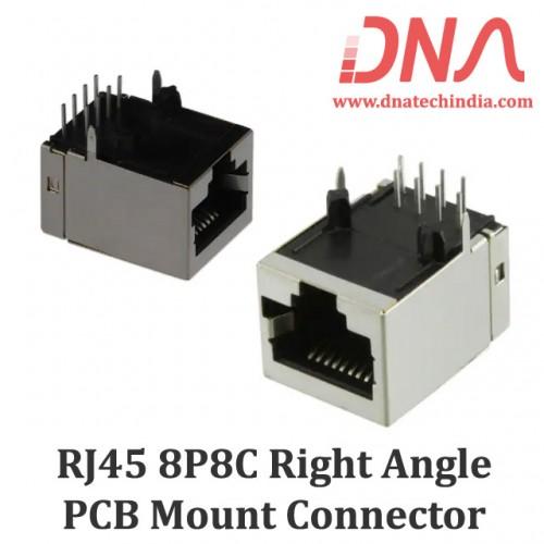 RJ45 - 8P8C PCB Mount Right Angle Socket for LAN