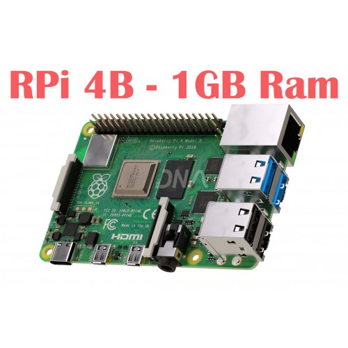 Raspberry Pi 4 Model B with 1 GB RAM