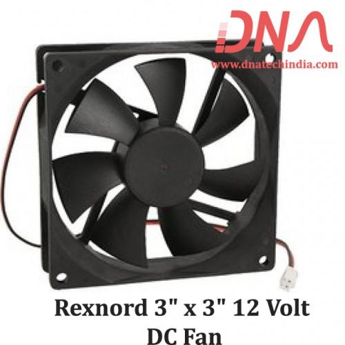 "Rexnord 3"" x 3"" 12 Volt DC Fan"