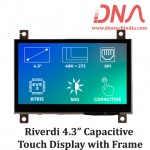 """Riverdi 4.3"""" Capacitive Touch Display with Frame"""