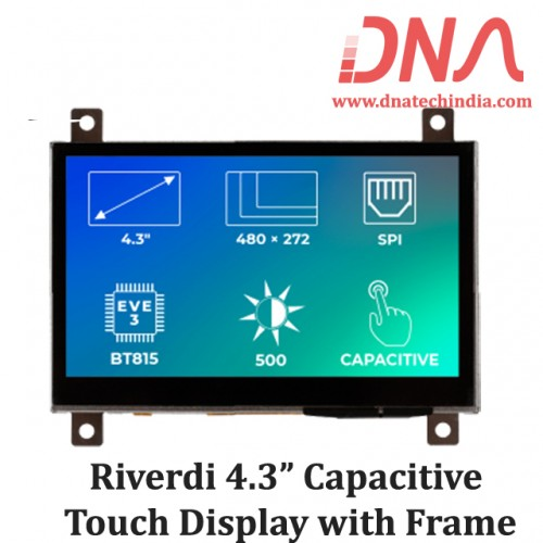 "Riverdi 4.3"" Capacitive Touch Display with Frame"