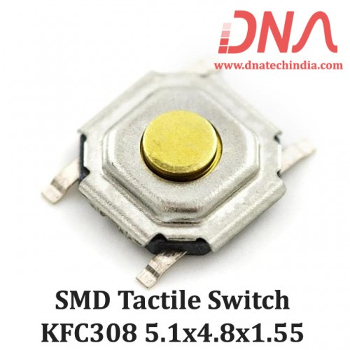 SMD Tactile Switch 4 Pin 5.1x4.8x1.55  (KFC 308)